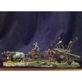 Figurines du Train D'Artillerie ,1525 - Figurine Andrea Miniatures 54mm à monter et à peindre.