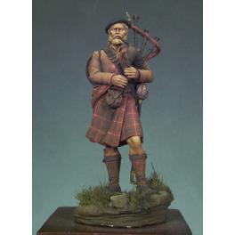 Andrea miniatures 54mm. Figurine de Scottish Piper en 1690.