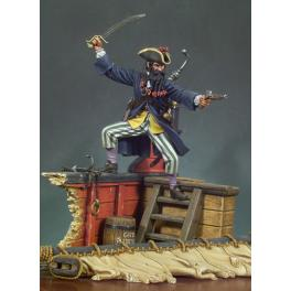 Andrea miniatures,90mm.Figurine de Barbe Noire le Pirate .