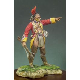 Andrea miniatures,54mm.Guerrier Mohawk.