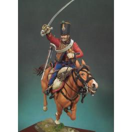 Figurine Andrea miniatures,90mm.Hussard au galop,1813 .