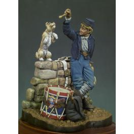Andrea miniatures,54mm figure kits.Union Drummer, 1863.