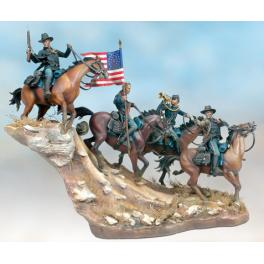 Historical figure kits,andrea miniatures,54mm.Hostile Fire, 1876