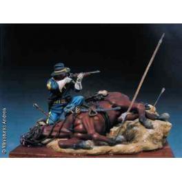 Andrea miniatures,54mm.Figurine de Cavalerie U.S.1876.
