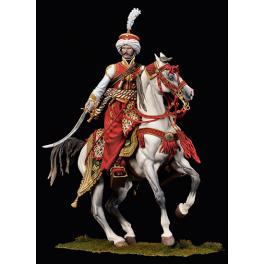 Figurine d'Officier de Mamelouk en 90mm Andrea Miniatures.