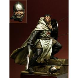 Pegaso models.90mm.Chevalier du Temple,XIIe. -figurine à peindre-