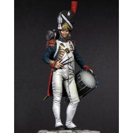 Figurine de Tambour des Grenadiers de la Garde, 1812, 90mm.