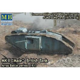 """Maquette char Mk.II """"Male"""" 72e Master Box."""