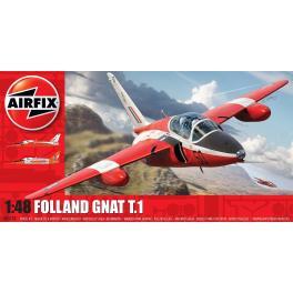 Maquette d'avion  FOLLAND GNAT T.1Airfix au 1/48e.