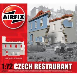 DIorama 72e Airfix- Restaurant en ruine.