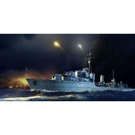 Maquette bateau 350e-HMS ZULU Destroyer Britannique.