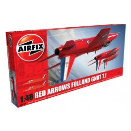 Maquette avion 48e-Folland GNAT T.1 Airfix.