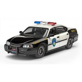Maquette voiture de police 25e-Chevrolet Impala avec peintures.