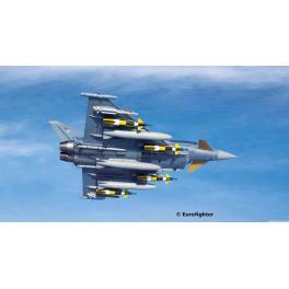 Maquette avion 144e-Eurofighter Typhoon Revell avec peintures.