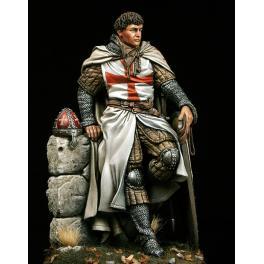 Figurine historique chevalier croisé 75mm Pegaso.