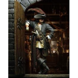 Figurine 75mm Pegaso Models Capitaine Pirate.