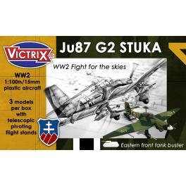 Maquette de Stuka Ju87 G2 au 1/100e Victrix.