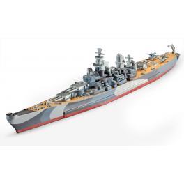 Maquette 1/1200e Cuirassé USS Missouri Revell.