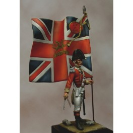"Napoleonic figure.Beneito miniatures,54mm.British Officer with flag, ""the Buffs""."