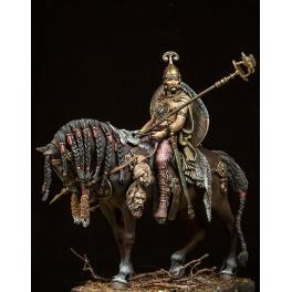 Kelte zu pferd 75mm figuren, Pegaso Models.