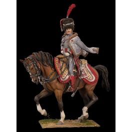 Figurine 90mm de capitaine de Hussard.
