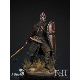 Figurine de guerrier Normand 75mm résine.