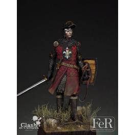Figurine de chevalier 75mm résine FeR miniatures.