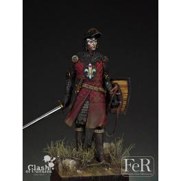 Figurine de chevalier 75mm résine.