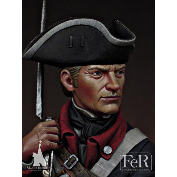 Bust 1/12  Continental Infantryman, 1st Maryland, 1781.