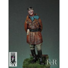Figurine 54mm résine, pilote de chasse 1920. FeR miniatures.