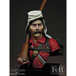 Buste au 1/16ème, 1st Minnesota, the Lincoln Guards. Résine FeR miniatures.