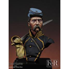 Buste 1/16ème, 2nd Missouri Cavalry , 1863 FeR miniatures.