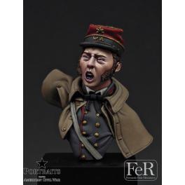 Buste au 1/16ème 2nd Lt Washington Artillery FeR miniatures.