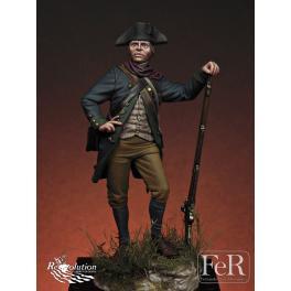 Figurine 75mm, milice de Virginie 1781 par FeR miniatures.