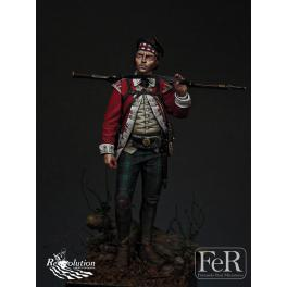 Figurine 75mm résine, Grenadier 71st foot par FeR miniatures.