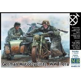 Figurine 1/35ème Master Box, motocycliste Allemand 1942/43.