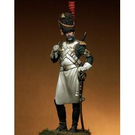 Figurine de Sapeur des Dragons de la Garde 75mm métal.