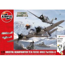 Maquettes du  DOGFIGHT DOUBLE - BEAUFIGHTER / FW190 A-8  au 1/72ème Airfix.