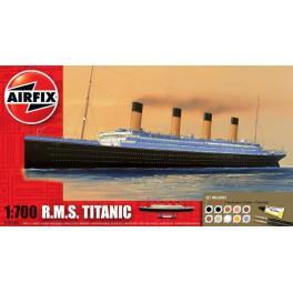 Maquette du Titanic avec peintures au 1/700ème Airfix.