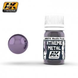 Peinture Metal violet métallisé AK interactive.