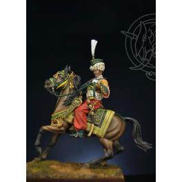 Figurine de Mamelouk, officier en 1803 Romeo Models 75mm.