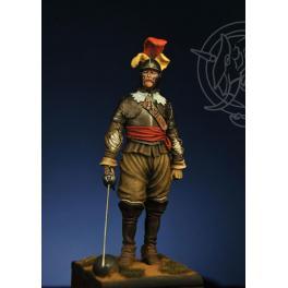 Figurine 75mm Romeo Models, Officier à Rocroi en 1643.