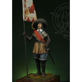 Figurine 75mm de porte étentard, Rocroi 1643.