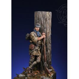 Figurine de coureur des bois 75mm Romeo Models.
