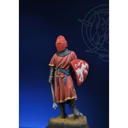 Figurine de chevalier du XIIIème siècle 54mm métal.