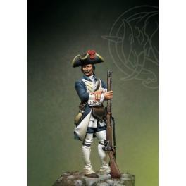 Figurine de Fantasin du XVIIIème siècle 54mm Romeo Models.