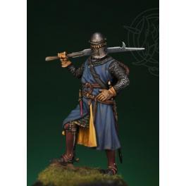 Figurine de chevalier médiéval 54mm Romeo Models.
