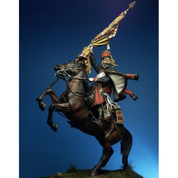 4º Hussars Regt, 1797 90mm historical figure.