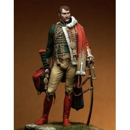 Chasseur-Offizier - 1805 Pegaso Models 90mm figuren.