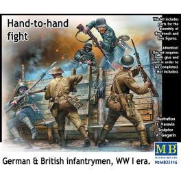 Corps à corps dans les tranchées en 1917, figurine Master Box 1/35ème.
